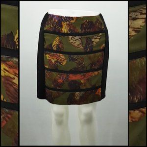Cluny Green Pattern Skirt Size 14